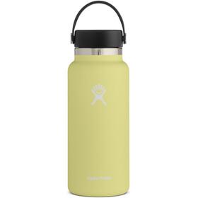 Hydro Flask Wide Mouth Bidón con Tapa Flex 946ml, amarillo